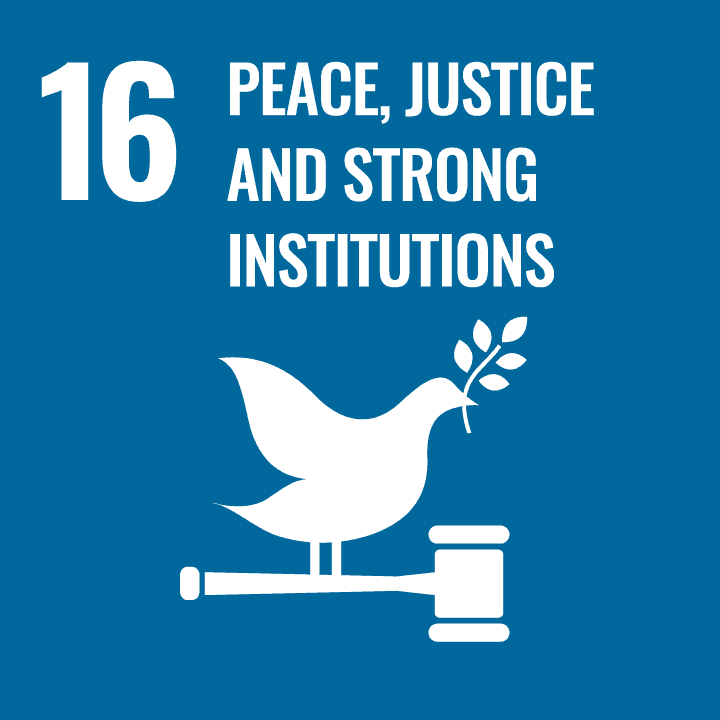 Sustainable Development Goal - 16 - Peace, Justice and strong Institutions